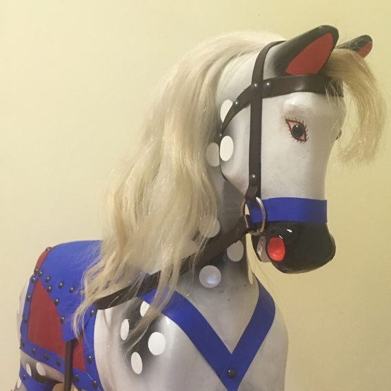 'Betty' Roebuck rocking horse after restoration