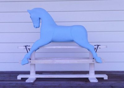 Coloured Rocking Horse in Blue