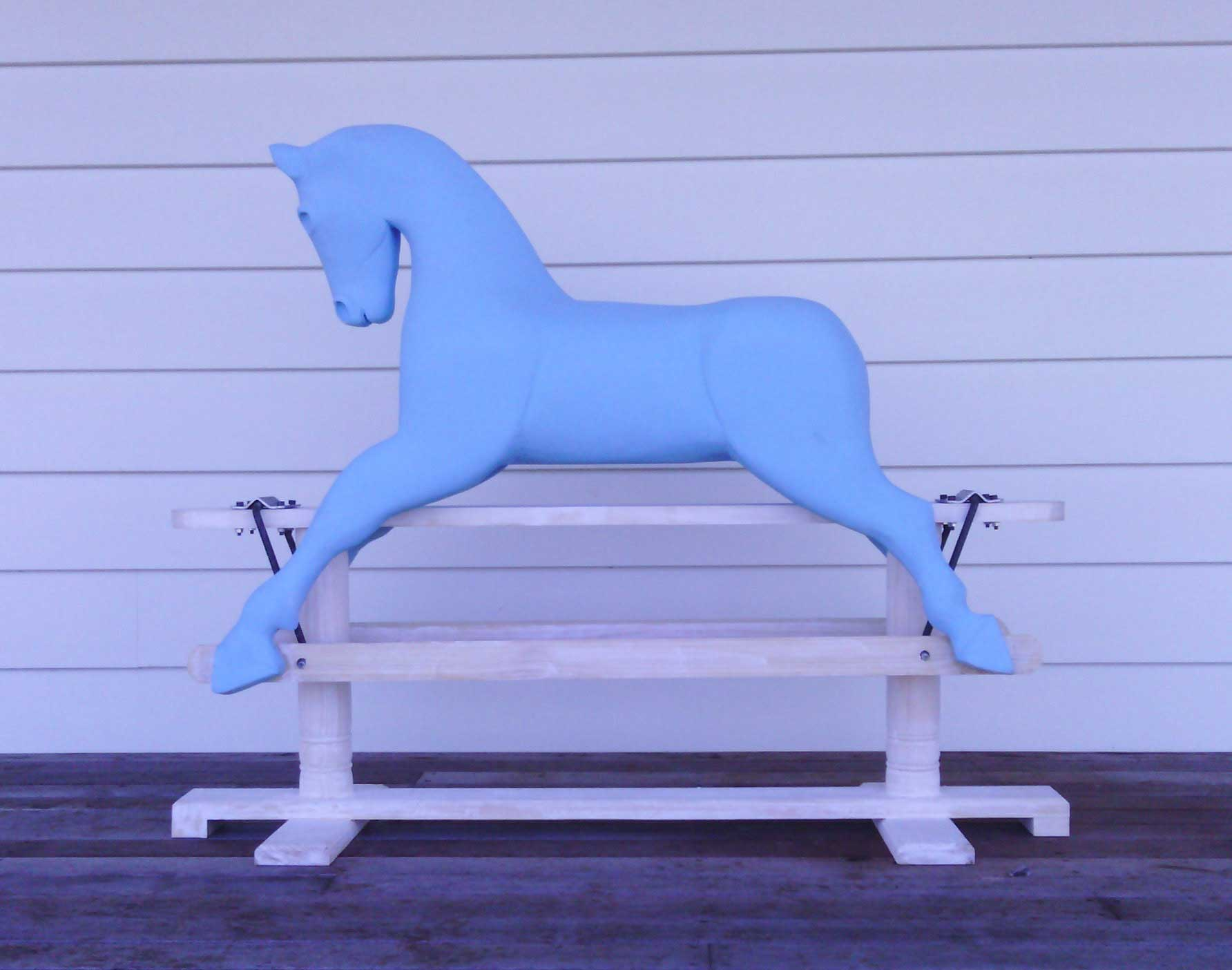 Coloured Rocking Horse in Blue by Olivia O'Connor.