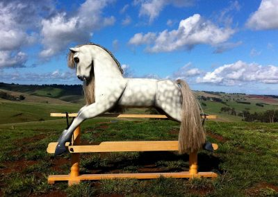 Light Dapple Grey Rocking Horse